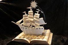 Sailing Home Book Sculpture by wetcanvas.deviantart.com on @deviantART