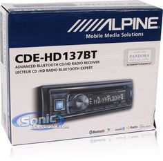Alpine CDE-HD137BT Car stereo with HD radio, bluetooth, and other awesome widgets! $179.99