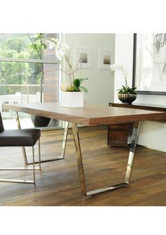 walnut modern dining table