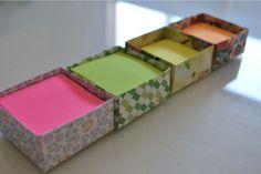 Caixinha de Origami para colocar Post It - SCRAPILI