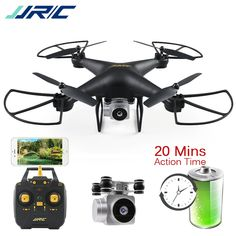 JJRC Bellwether Quadcopter with Camera Drone Wifi FPV Altitude Hold Headless Mode RC Helicopter Dron 20 Minutes Playing Time Drones, Drone Quadcopter, Drone With Hd Camera, Camera Prices, Solar Panel System, Rc Helicopter, Cool Posters, Radio Control, Phone Holder