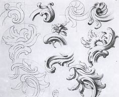 The Ornamentation Summary The Moldings The Geometric Ornaments The Ornaments . Baroque Pattern, Baroque Design, Stone Carving, Wood Carving, Ornament Drawing, Armadura Medieval, Engraving Art, Carving Designs, Acanthus