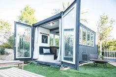 Ideas Tiny Container House Plans for Shipping container houses: 49 for sale right now - Curbed Tiny Container House, Container Homes For Sale, Building A Container Home, Container House Design, Container Home Plans, Cargo Container, Container Store, Container Gardening, Prefab Shipping Container Homes