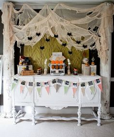 LOVE this Haunted Halloween Party via Kara's Party Ideas - The Place for All Things Party! #halloweenparty #halloweendecor #halloween #decorations