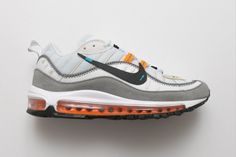 09e4fe66366 Off White x Nike Air Max 98  White Grey Orange  AJ6302-026