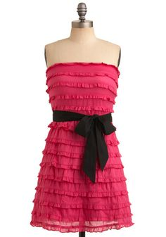 ModCloth Predict the Fuchsia Dress Bright Pink Dresses, Fuchsia Dress, Fushia Pink, Pink Black, Hot Pink, Indie Outfits, Cute Outfits, Fashion Outfits, Cute Dresses