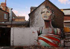 STREET ART UTOPIA » We declare the world as our canvasStreet Art by Alice Pasquini in Sydenham, London, UK » STREET ART UTOPIA