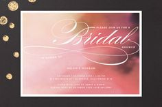 Soft Watercolor Bridal Shower Invitations by Aspacia Kusulas at minted.com