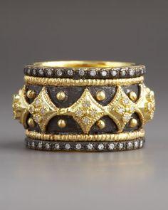 Diamond Cravelli Cross Band Ring by Armenta at Bergdorf Goodman.