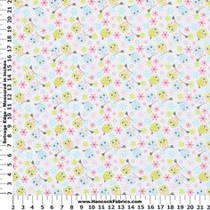 Blizzard Tossed Owls Flannel Cotton Fabric - Blizzard