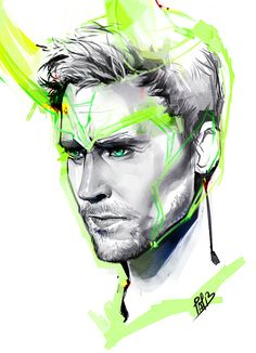 tom hiddlestonbecause why not.been busy. saw snow. built a... - CAFFEINATED : Fashion Illustrations of Ieatcoffee