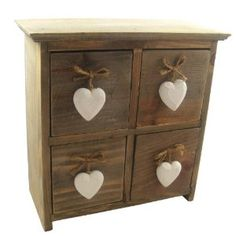 Gisela Graham Shabby Chic 4 Drawer Lime Wash Box with Heart Handle Gisela Graham, Heaven Sent, Traditional Interior, Cabinet Decor, Drawer Handles, Cubbies, Shelves, Beautiful Homes, House Beautiful
