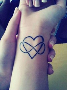 49 Heart infinity tattoo