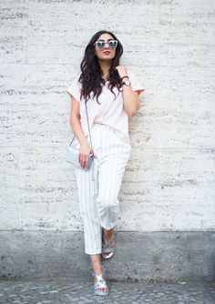 Oasis White Paperback Pants cigarettepants karottenhose kombinieren peperosa silver sandals silberne sandalen sommerlook büro business casual modeblog fashionblog fashionweek streetstyle berlin samieze