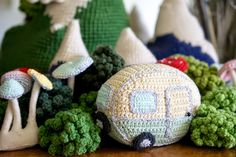Here it is - How to Crochet a Mini Vintage Caravan!!!  Materials .  1 x ball cotton dk cream  1 x ball cotton dk duck egg blue (or a nic...