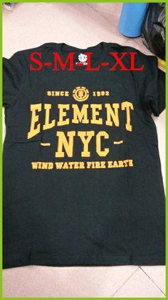 2014 men brand fashion High quality 88 styles   black/gray/orange T Shirts  100% cotton skateboard tops  element T Shirts $14.60