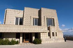 Frank Lloyd Wright. Textile Block Period. Charles Ennis House in Los Feliz neighborhood of Los Angeles. 1924.
