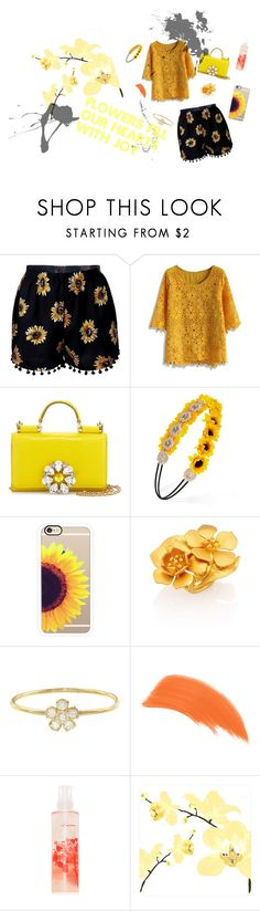 """Flowers Fill Our Hearts with Joy"" by tigerlover12 ❤ liked on Polyvore featuring Chicwish, Dolce&Gabbana, Forever 21, Casetify, Valentino, Jennifer Meyer Jewelry, By Terry and red flower"