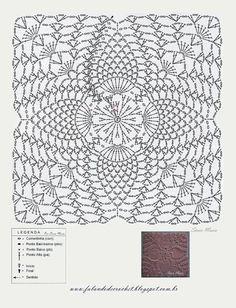 QUADRADINHO+DE+CROCHE+(CROCHET+SQUARE)Q+PONTO+ABACAXI.JPG 1,224×1,600 pixels