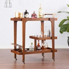 You'll always be cocktail party-ready with this Holly & Martin Zhori Midcentury Modern Bar Cart . The mid-century design of this wood bar cart comes. Bar Decor, Bar Chairs, Bars For Home, Bar Furniture, Modern Bar Cart, Mid Century Modern Bar Cart, Modern Bar, Modern Home Bar, Interior Decorating