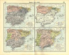 Spain - 970, 1027, 1150, 1212-1492