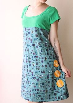 refashion, probably tee + dress .: