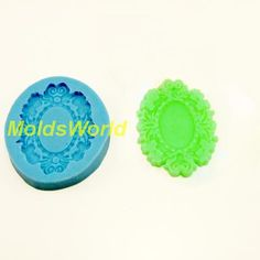 A290 Silicone Mold Pendant Setting Cameo Cabochon 1 Cavities Flexible Mould for Polymer Clay Resin Candy Fimo Super Sculpey Crafts Jewelry