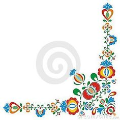 Illustration about Moravia ornaments - complete rustically painting. Folk Embroidery, Learn Embroidery, Embroidery Stitches, Embroidery Patterns, Machine Embroidery, Polish Folk Art, Scandinavian Folk Art, House Ornaments, Arte Popular
