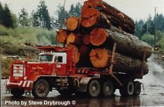 off road logging trucks | Its a Hayes off highway log truck, dont see too many of them around ...