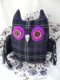 Felt eyed owl cushion £15.00