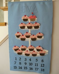 I really wish i had my sewing matchine so i could make this Birthday AdventCalendar for the babies... I MISS MY CRAFTY STASH!