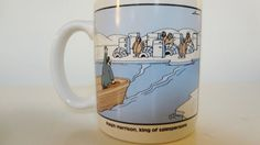 We LOVE The Far Side!  This is one of the classic Far Side cartoons on a nice white mug/coffee cup: Ralph Harrison, king of salespersons - Ralph