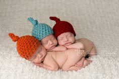 Newborn baby knot hats