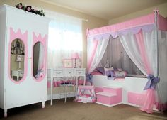 Disney TODDLER Canopy Bed, Girls Bed, Girls Bedroom Furniture ...