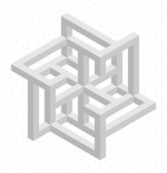 Zenith Cube Star  by Bucwah # impossible # isometric # geometry