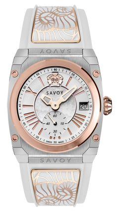 Savoy Icon Light 35mm Swiss Made Ladies Watch 2 tone Stainless Steel – White C1405A.01D.RA12 #SavoyIndia