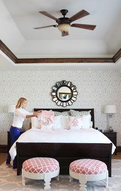 Feminine Rustic Bedroom | Brooke Jones Designs