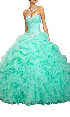 b8bda1e6de online shopping for ANGELA Women s Ball Gown Organza Quinceanera Dresses  Prom Gowns from top store. See new offer for ANGELA Women s Ball Gown  Organza ...