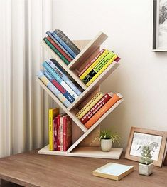Shelves Pallet Tolland 3 Tier Shelf Display Ladder Bookcase - The open layer design of this shelving storage cabinet makes it ideal for small items, such as toys, pens, plants. The design makes it good decoration. Regal Display, Diy Casa, Bookshelf Design, Bookshelf Ideas, Bookcase Decorating, Creative Bookshelves, Homemade Bookshelves, Shelving Ideas, Open Shelving