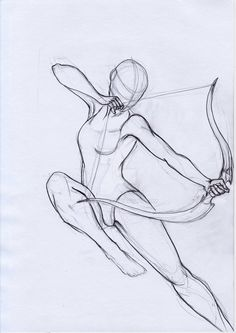 Pose Study Archer by aryaenne. on Manga Drawing Drawing Base, Manga Drawing, Figure Drawing, Bow Drawing, Anatomy Drawing, Pencil Art Drawings, Art Drawings Sketches, Poses References, Drawing Techniques
