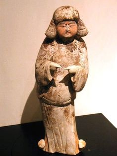 Tang Dynasty Pottery Figure of a Court Lady (AD618-907)