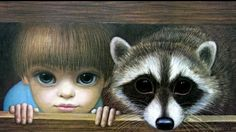 """Boy with Racoon"" ~ Margaret Keane"