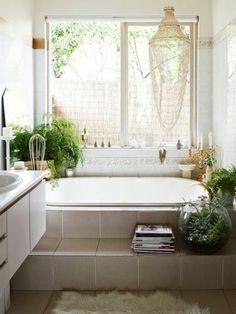 Déco Reposante Et Tendance En Vert Pour La Salle De Bain Inspiration - Plante verte pour salle de bain