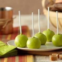 Caramel Apple Cake Ball Pops