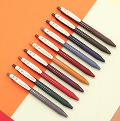 Stationary Supplies, Cute Stationary, Art Supplies, Vintage Colors, Vintage Love, Sarasa Pens, Kawaii Pens, Pen Shop, Art Supply Stores
