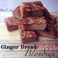 Ginger bread blondies by Instagram user Missk_j6. Recipe in comments.