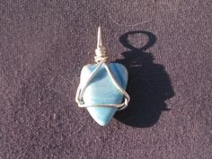 Swedish Blue sterling silver wire wrap by calmjewelry on Etsy, $25.00