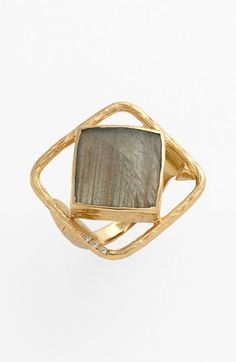 Melinda Maria 'Pyramid - Rosalind' Open Stone Ring | Nordstrom