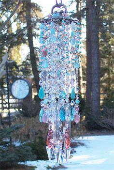 Beachy crystal wind chime