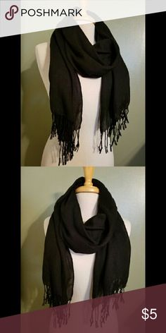 Black Scarf A beautiful soft black scarf, perfect for any outfit. Accessories Scarves & Wraps